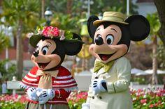 mickey and minnie polynesian resort   MouseSteps - Celebrating Easter at Walt Disney World: Mickey & Minnie ...