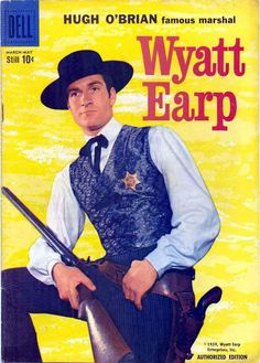 western art 30 x 120 Old Comic Books, Comic Book Covers, Old Comics, Vintage Comics, Vintage Tv, Hugh O'brian, Cowboy Films, Western Comics, Western Art