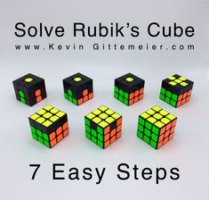 How to Solve Rubik's Cube Easy Beginner Method for Kids. A simple easy to learn method to solve Rubik's Cube video and step by step instructions with pictures. Rubics Cube Solution, Rubik's Cube Solver, Rubiks Cube Patterns, Rubric Cube, Solving A Rubix Cube, Rubiks Cube Algorithms, Cube Games, Cubes, Cube Puzzle
