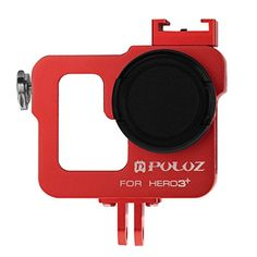PULUZ Housing Shell CNC Aluminum Alloy Cases Protective Cage with 37mm UV Lens Filter   Lens Cap for GoPro HERO3  /3 Cameras (Red) -- Read more reviews of the product by visiting the link on the image. (This is an affiliate link) #goprocase Gopro Case, Stunts, Aluminium Alloy, Cage, Cameras, Filter, Lens, Shell, Waterfalls