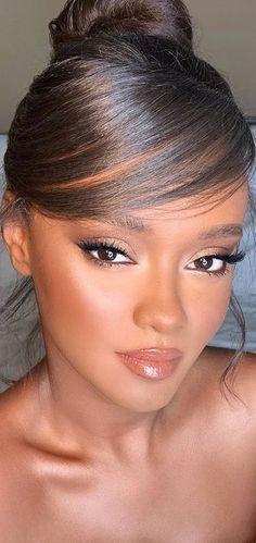 Texturizer On Natural Hair, Natural Hair Updo, Natural Hair Styles, Brown Makeup, Brown Eyeshadow, Black Women Hairstyles, Summer Hairstyles, Wedding Hairstyles, Kylie Jenner Hair