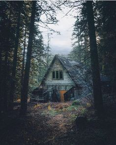Getting lost in the woods and stumbling upon some abandoned cabins Photography by @lukeandrew_taylor #WeLiveToExplore