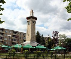 Clock tower in Giurgiu. Visit Romania, Under Construction, Geography, Tower, Clock, Journey, Adventure, Country, Building