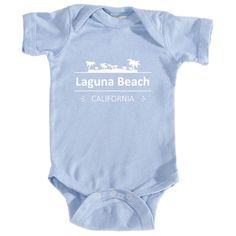 Laguna Beach, California Palm Tree Top - Infant Onesie/Bodysuit