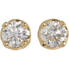 HOORSENBUHS for Forevermark Diamond & Gold Stud Earrings ($7,165) ❤ liked on Polyvore featuring jewelry, earrings, accessories, brincos, jewels, yellow gold stud earrings, 18k gold jewelry, diamond jewelry, gold earrings and gold stud earrings