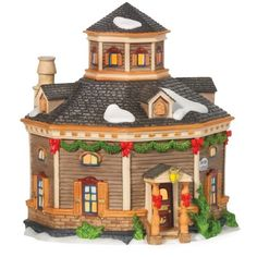 "This lit building is hand painted and included a switched cord and bulb. Designed and manufactured exclusively for Department 56.   	 		 			 				 					Famous Words of Inspiration...""We know that equality of individual ability has never existed and never will, but we do insist that equality... more details available at https://perfect-gifts.bestselleroutlets.com/gifts-for-holidays/home-kitchen/product-review-for-department-56-new-england-village-roundel-cottage/"