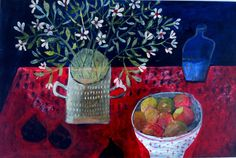 Este MacLeod still life painting 'Black figs'