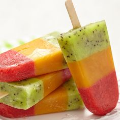 Make this homemade fruit popsicle recipe using all fresh fruits and a honey syrup.. Homemade Fruit Popsicles Recipe from Grandmothers Kitchen.