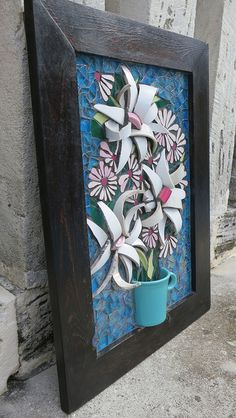 Flower Mosaic - For Auntie Kay! by Nikki Murray-Mason, Nikki Inc Mosaics, Bermuda  IMG_2050* by Nikki Inc Mosaics, via Flickr