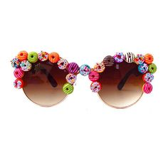 Doughnut Shades ❤ liked on Polyvore featuring accessories, eyewear, sunglasses, glasses and nylon