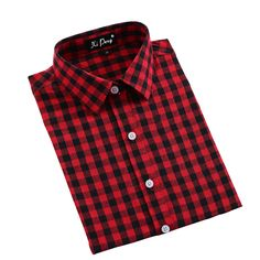1.Top&Tees Chic Blouse Shirt Dress for Women(Vintage Red Checked Plaid) 2.This Shirt Featuring Female Slim Fit,Long Sleeve,Western Plaid Checked Design,Button Down Closure,Straight Turn Down Rounded Collar,Convertible Cuff 3.Designed for Ladies Daily and Work Wear,Casual Dress,Formal,Business,Party,School,Outdoor Sports,Office Uniform for Women