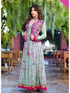 Remarkable Blue coloured Georgette Anarkali Suits Buy Online Remarkable Blue coloured Georgette Anarkali Suits at Best Price in India. Wear dynamic and young style gorgeous designer Remarkable Blue coloured Georgette Anarkali Suits to impress from SAARA.