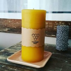 Check out this item in my Etsy shop https://www.etsy.com/au/listing/528977112/wide-beeswax-pillar-candle-large-16cm