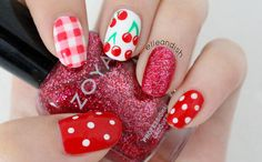 Cherry Picnic Nails - elle & ish