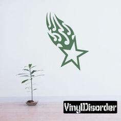 Star Tribal Shooting Wall Decal - Vinyl Decal - Car Decal - CF037