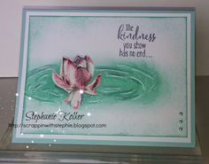 Stampin Up sale-a-bration Lotus Blossom stamp set card