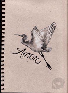 Crane Tattoo Design by ~P-O-R-K-Y on deviantART