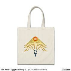 The Aten - Egyptian Deity Tote Bag.
