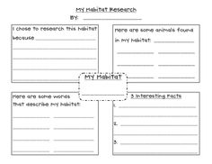 This is just a cute way for your students to record information for a habitat research project. This is something my students look forward to becau...