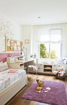 Modern kids room design and decorating ideas create comfortable, functional, ergonomic and healthy environment for children to play, sleep and do their homework Teen Girl Bedrooms, Teen Bedroom, Bedroom Decor, Bedroom Ideas, Bedroom Lighting, Bedroom Furniture, Kids Room Design, Little Girl Rooms, New Room