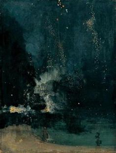 James Abbott McNeill Whistler- Nocturne in Black and Gold. Whistler was known as the first artists to say art for arts sake, rather than it having a social responsibility.