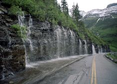 One of my favorite places in the world: Going to the Sun Road - Weeping Wall - Glacier National Park, Montana by minerva Oh The Places You'll Go, Places To Travel, Places To Visit, Glacier National Park Montana, Glacier Np, Glacier Montana, Ville New York, Voyager Loin, To Infinity And Beyond