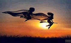Não deixe que te cortem as asas. Desconfie de quem nunca valoriza seus feitos. Afaste-se de quem só reclama e nada muda. E façam suas vidas seguirem mais fluídas! Boa noite, bruxarada!