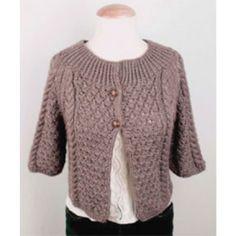 Mary Maxim - Free Cropped Jacket Knit Pattern - Free Patterns - Patterns & Books