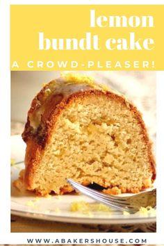 This lemon bundt cake with lemon curd filling is an ode-to-lemon in cake form. Lemon juice, lemon zest, lemon curd, and a lemon glaze product a bright, lemony bite. Cupcake Recipes, Cupcake Cakes, Cupcakes, Lemon Bundt Cake, Vanilla Cake, Lemon Filled Cake Recipe, Lemon Bar, Lemon Curd Filling, Beautiful Desserts