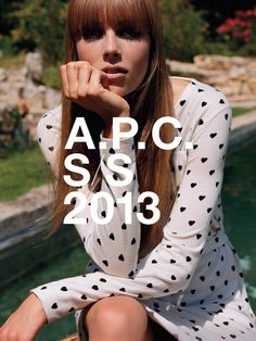 A.P.C. spring 2013 collection. Edie Campbell shot by Alasdair Mclellan.