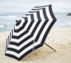 pottery barn patio umbrella - comes in navy + white, too -  279.