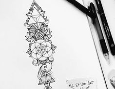 Sacred geometry tattoo commission
