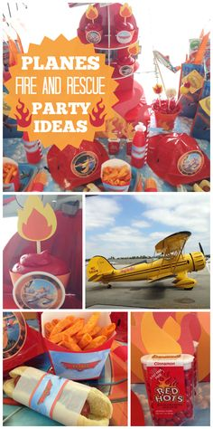 A Disney Planes Fire and Rescue boy birthday party with cupcakes and party food held at an airport!  See more party ideas at CatchMyParty.com!