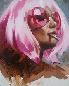 Myslíme si, že by sa vám mohli páčiť tieto piny - egabor Arte Grunge, Guache, Ap Art, Arte Pop, Portrait Art, Aesthetic Art, Painting Inspiration, Female Art, Painting & Drawing
