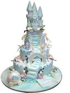 blue castle cake …