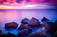 Barceloneta - sunrise and rocks - Barcceloneta - Sunrise long exposure 185 sec