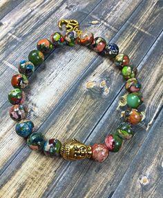 Buddha bracelet mens bracelet beaded bracelet by SJIJewelry