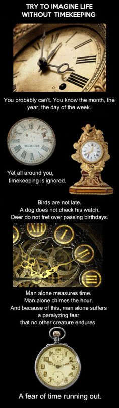 Cool writing idea--What if we didn't keep track of time? We wouldn't know exact birthdays, how old we were....