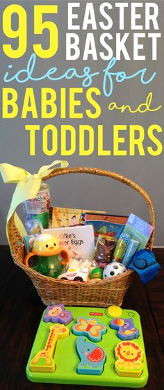 No candy toddler easter basket ideas journey to stay at home mom 95 easter basket ideas for babies and toddlers negle Gallery