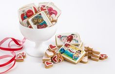 Amazing! Vintage Valentine's Day Card Cookies. These are the best cookies I have ever seen! WOW!