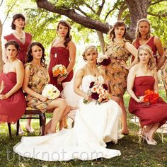 Hot Colour Combo: Peach & Burgundy - Wedding Obsessions | The Knot