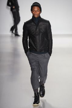 Richard Chai Love Fall 2014 RTW. Richard Chai and Andrew Marc collaborated to make some amazing leather jackets.