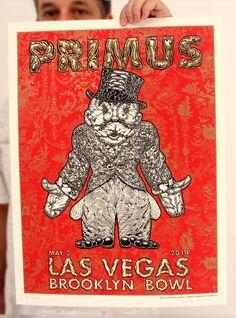 Primus Poster Series - Vegas night 2 poster by Mark Dean Veca
