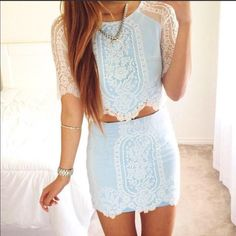 I am in love with this two piece set it looks amazing