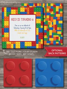Lego Invitation Lego Party Lego Birthday Party by LaBelleCarte, $10.00