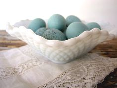 Easter Idea with milk glass