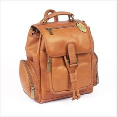 Claire Chase Uptown Back Pack, Distressed Brown, One Size
