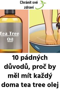 10 pádných důvodů, proč by měl mít každý doma tea tree olej Tee Tree, Tea Tree Oil, Health Advice, Detox, Herbs, Workout, Fitness, Gymnastics, Tee Tree Oil