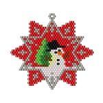 ThreadABead Snowman Star