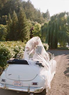 wedding getaway car idea; photo: Sylvie Gil.